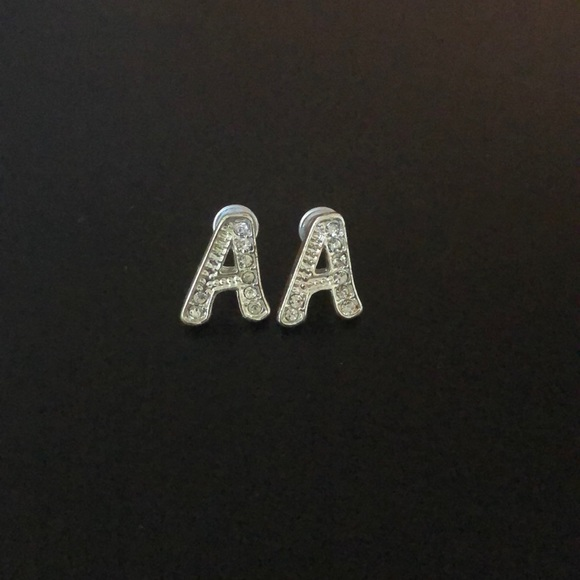 "unknown Jewelry - ""A"" stud earrings"